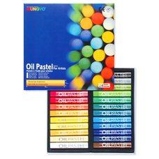 Набор пастели художественной масляной круглой MUNGYO Oil Pastels, 24 цвета