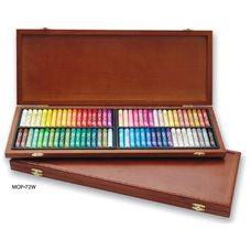 Пастель MUNGYO масляная профессиональная 72 цвета в деревянной коробке