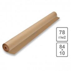 Крафт бумага коричневый рулон 0,84х10м 78г/м2