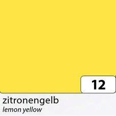 Бумага цветная, 50х70 см, 300 г/м2, FOLIA, (10) цв.12 желтый лимонный