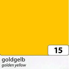Бумага цветная, 50х70 см, 300 г/м2, FOLIA, (10) цв.15 желтый золотистый