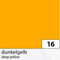 Бумага цветная, 50х70 см, 300 г/м2, FOLIA, (10) цв.16 желтый темный