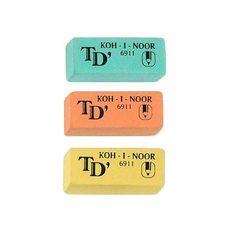 Ластик для мягких чернограф. каранд. TOISON D'or 2,1х4,9 см 6911/20  K-i-N цветные