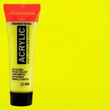Акриловая краска AMSTERDAM цв.256, туба 20мл, Жёлтый отражающий