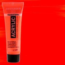 Акриловая краска AMSTERDAM цв.257, туба 20мл, Оранжевый отражающий