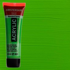 Акриловая краска AMSTERDAM цв.605, туба 20мл, Зеленый яркий