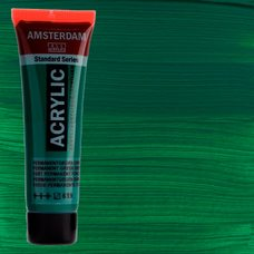 Акриловая краска AMSTERDAM цв.619, туба 20мл, Зеленый темный устойчивый