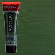 Акриловая краска AMSTERDAM цв.622, туба 20мл, Зеленый оливковый насыщенный