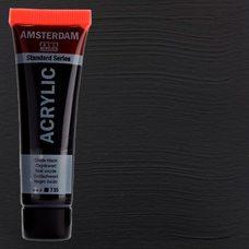 Акриловая краска AMSTERDAM цв.735, туба 20мл, Черный оксид