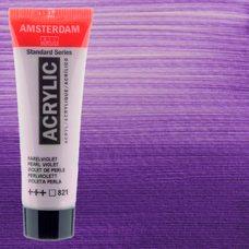Акриловая краска AMSTERDAM цв.821, туба 20мл, Фиолетовый жемчужный