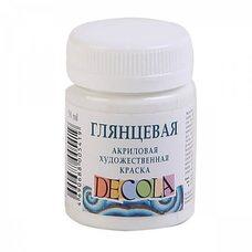 Белая краска акриловая глянцевая Decola ( Декола ) 50 мл