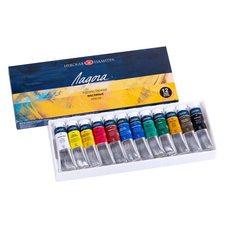 Набор масляных красок ЛАДОГА 12цв. х18мл в картонной упаковке
