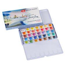 Набор красок акварельных БЕЛЫЕ НОЧИ 35 кювет металлическая упак.