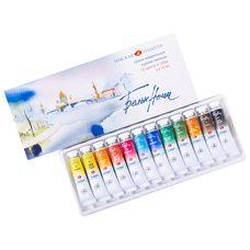 Набор красок акварельных БЕЛЫЕ НОЧИ 12 туб х10мл в картонной упаковке