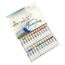 Набор красок акварельных БЕЛЫЕ НОЧИ 24 тубы х10мл в картонной упаковке