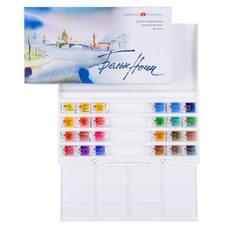 Набор красок акварельных БЕЛЫЕ НОЧИ 24цв. х 2.5мл в пластиковой упак.