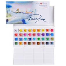 Набор красок акварельных БЕЛЫЕ НОЧИ 36цв. х 2,5мл в пластиковой упак.