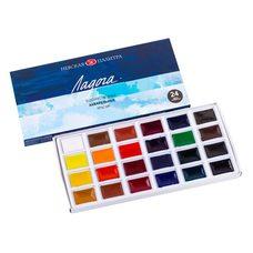 Набор красок акварельных ЛАДОГА 24цв. по 2.5мл в картонной упаковке ЗХК