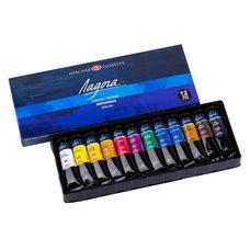 Набор красок акриловых ЛАДОГА 12цв. х18мл в картонной упаковке