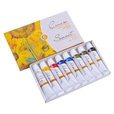Набор масляных красок СОНЕТ 8цв. х10мл в картонной упаковке
