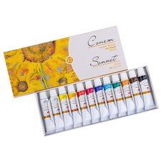 Набор масляных красок СОНЕТ 12цв. х10мл в картонной упаковке