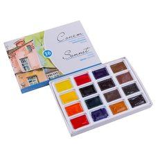 Набор красок акварельных СОНЕТ 16цв. по 2.5мл в картонной упаковке